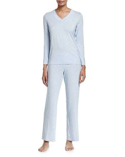 Champagne Pajama Set, Ashley Blue