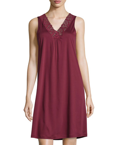 Moments Tank Nightgown, Red Plum
