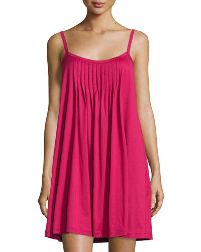 Juliet Pleated Babydoll Gown, Cranberry