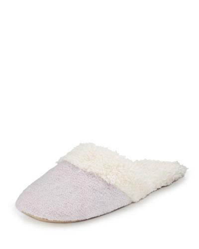 Faux-Shearling Slide Slipper