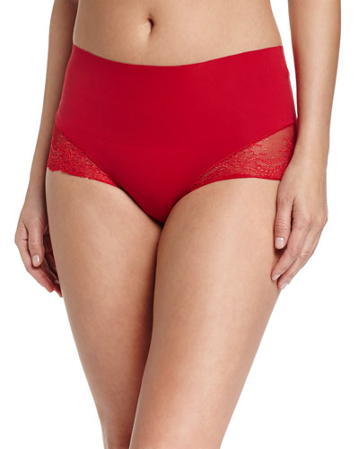 Undie-Tectable® High-Waist Lace Boyshorts, Rouge Red