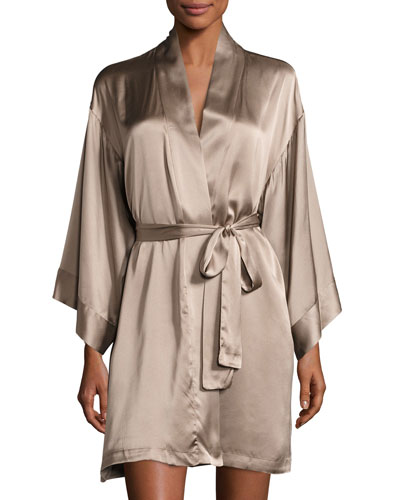 Silk Wrap Robe, Soft Mink