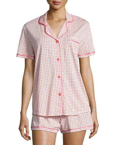 Bella Printed Short-Sleeve Shorty Pajama Set