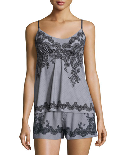 Antique Lace-Print Camisole