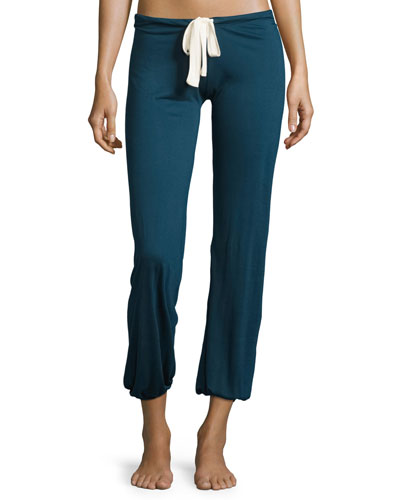 Heather Slouchy Lounge Pants, Petrol