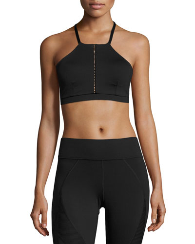 Barre Low-Impact Sports Bra, Black