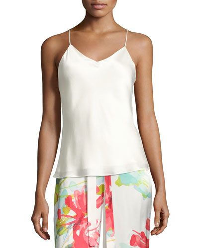 Key Essentials Silk Camisole, White