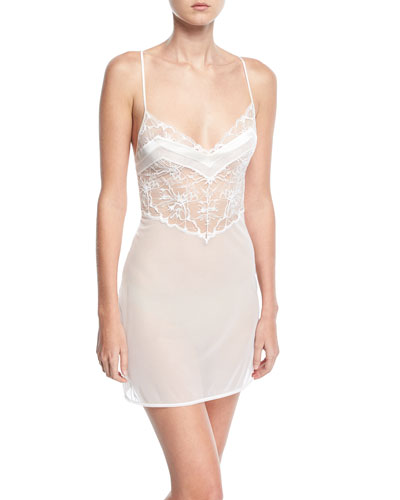 Wisteria Lace-Inset Chemise