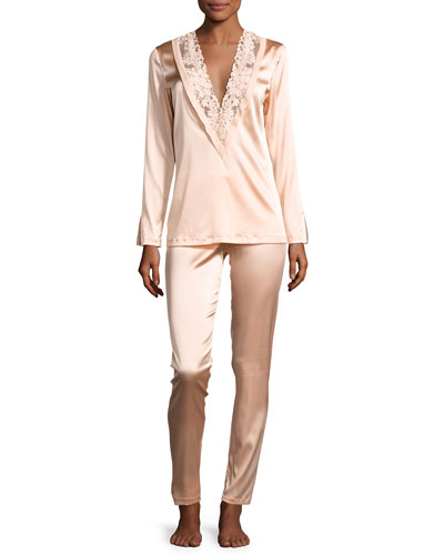Azalea Stretch-Silk Pajama Set
