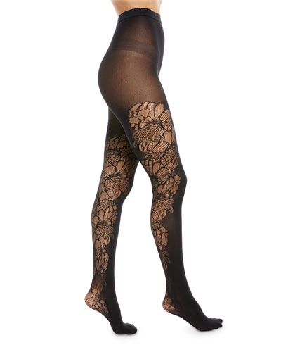 Blossom Floral-Inset Tights