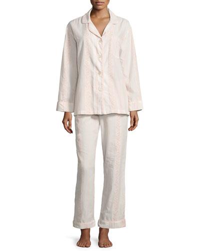 Spanish Rose Striped Classic Pajama Set