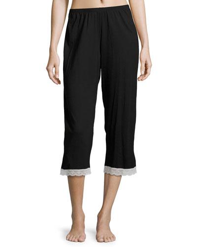 Cosabella MAJESTIC CROP LOUNGE PANTS, BLACK/WHITE