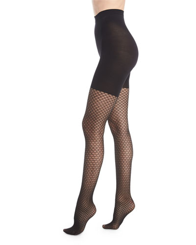 Tight-End Honeycomb Fishnet Tights