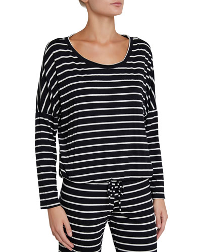 Striped Slouchy Lounge Tee