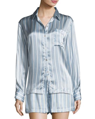 Stripe Long Sleeve PJ Top
