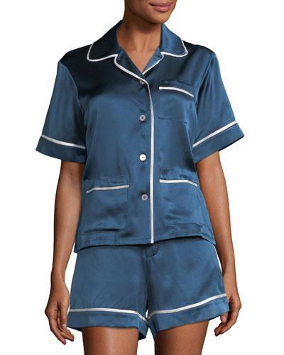 Milllicent Silk Shortie Pajama Set