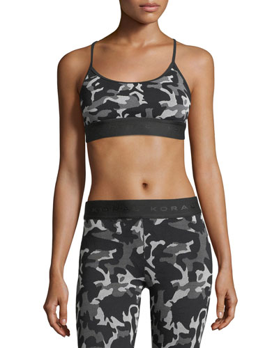 Sweeper Versatility Camouflage Jacquard Sports Bra