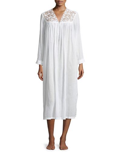 Anastasia Long-Sleeve Long Nightgown