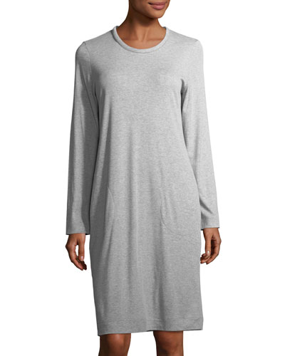 Enie Long-Sleeve Jersey Nightgown