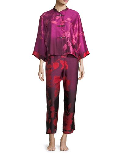 Sophia Satin Pajama Set