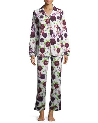 Fall Floral Long-Sleeve Pajama Set