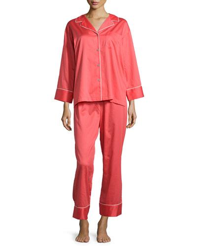 Cotton Sateen Pajama Set