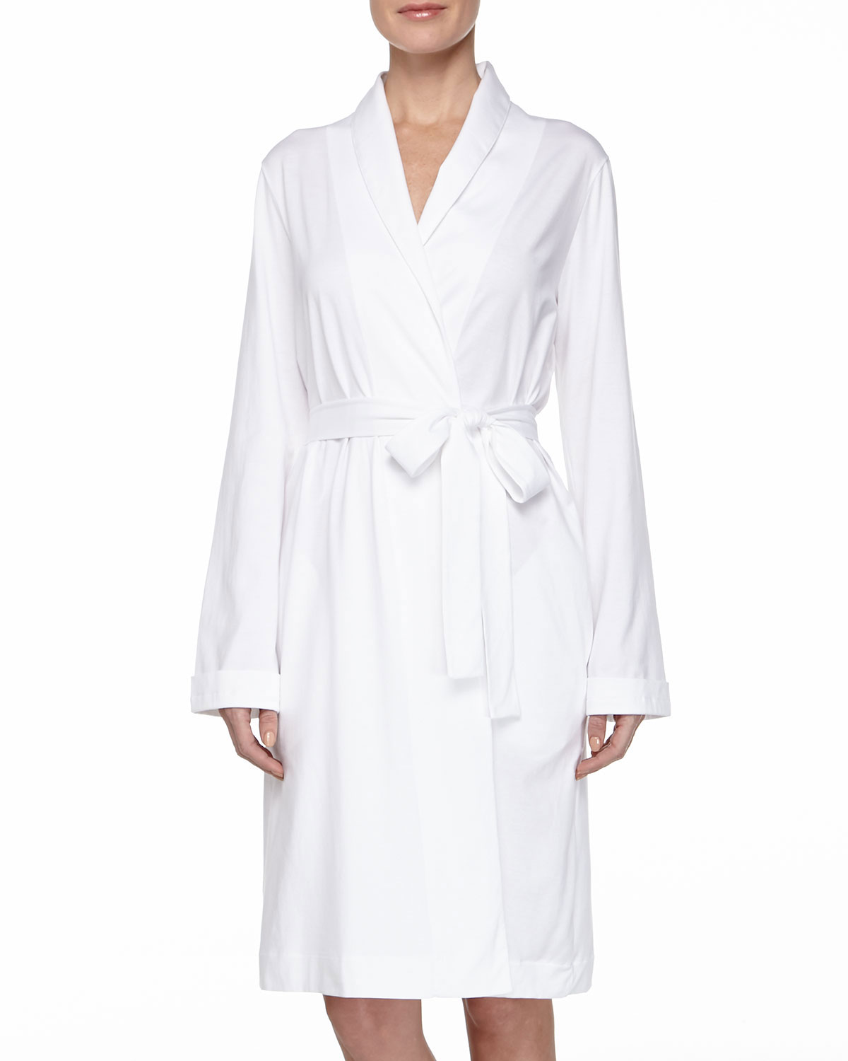 Cotton Jersey Short Robe