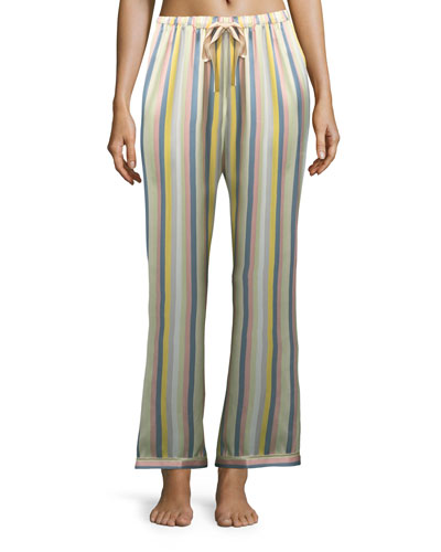 Chantal Sorbet-Striped Pajama Pants