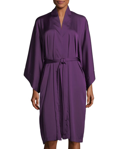 Feathers  Satin Robe