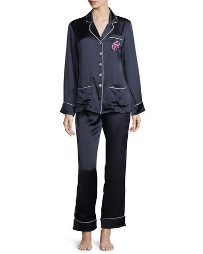 Coco Wilma Long Silk Pajama Set