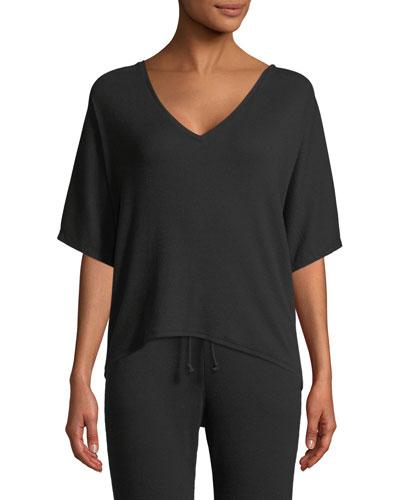 Carlotta Half-Sleeve Lounge Top