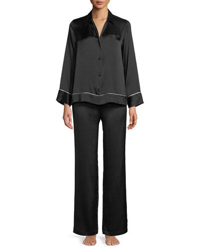 Silk Spread-Color Pajama Set