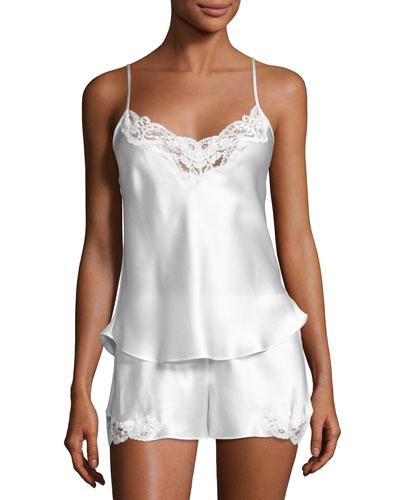 Bijoux Short Silk Pajama Set