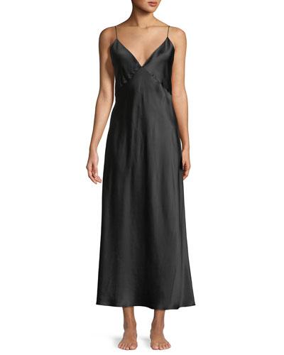 Issa Long Silk Nightgown