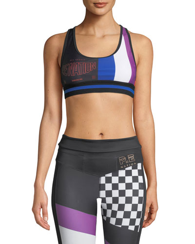 The Champ Racerback Performance Crop Top
