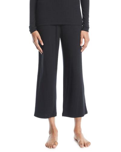 Noelle Jersey Cropped Pants, Black