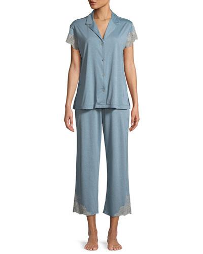Luxe Shangri-La Short-Sleeve Pajama Set