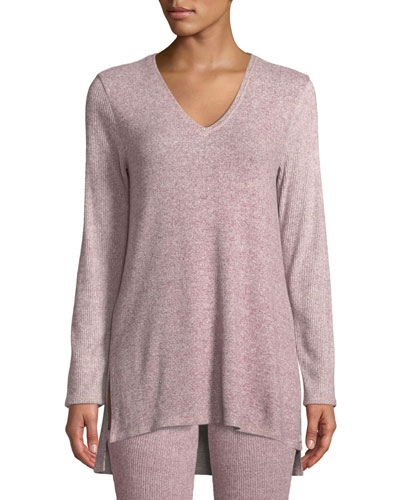 Ulla Rib-Knit Lounge Tunic