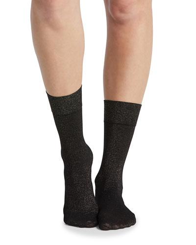 Gold Shimmer Opaque Half-Calf Socks