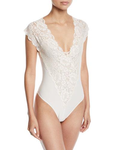 fc6bace02c Lady Like Mixed-Media Bodysuit