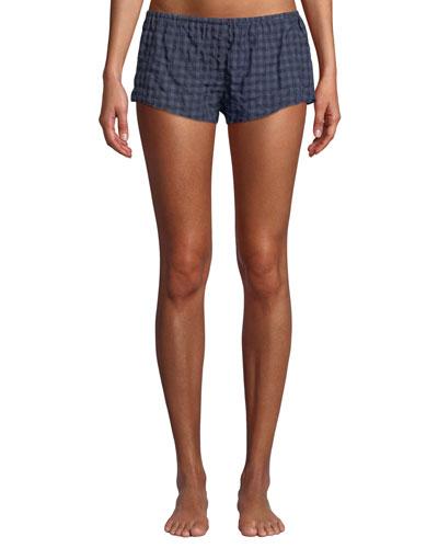 Shyla Plaid Poplin Lounge Shorts