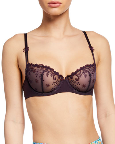 Delice Embroidered Demi Bra