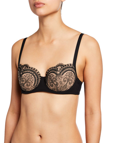 Tattoo Padded Demi Cup Bra