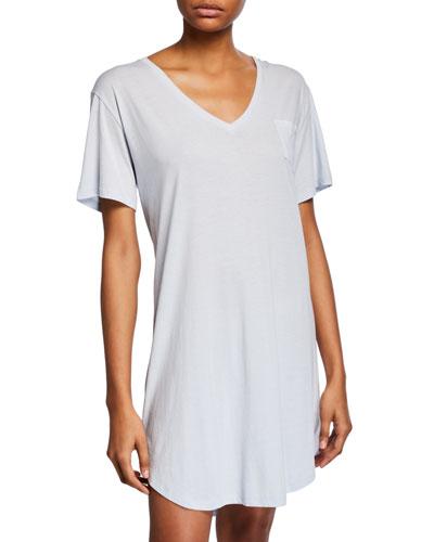 Keziah Pocket Jersey Sleepshirt