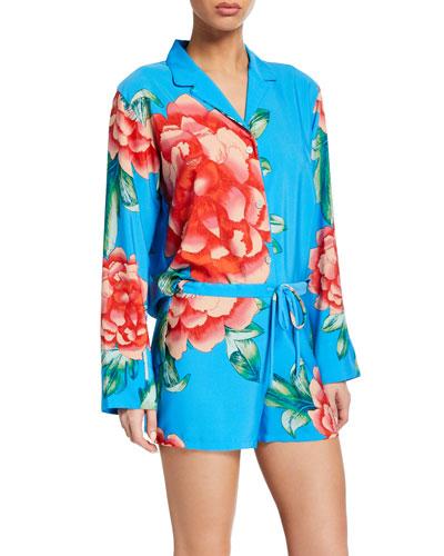 Nova Long-Sleeve Shorty Pajama Set