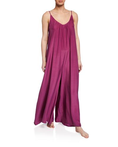 Wide-Leg Silk Charmeuse Jumpsuit
