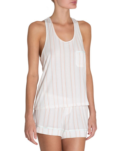Summer Stripes Poplin Lounge Tank