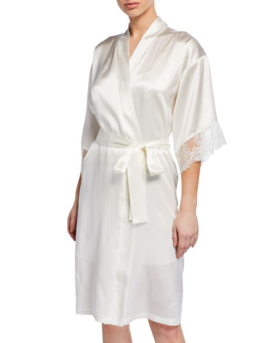 Virtuose Short Silk Robe