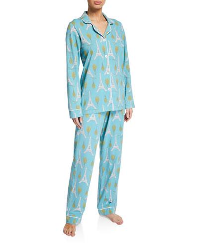 Eiffel Bouquet Classic Pajama Set