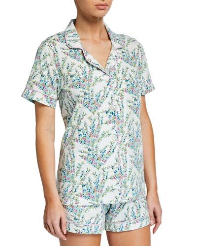 Spring Bloom Shorty Pajama Set